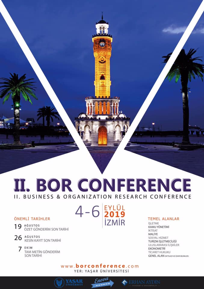 Business and Organization Research (BOR) Conference 2019 İzmir'de